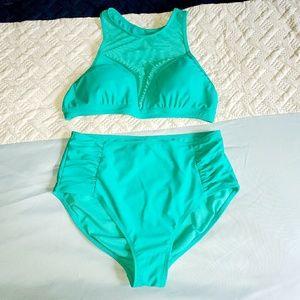 High Waisted Two Piece Bathing Suit Bikini